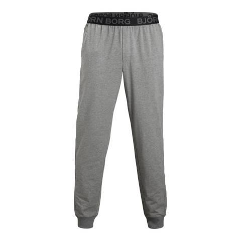 BJORN BORG Men's Grey Cuffed Seasonal Pant