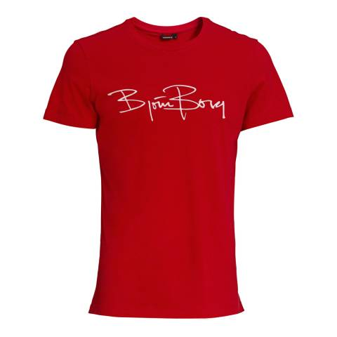BJORN BORG Men's Red Signature Tee