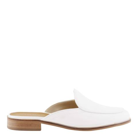 Hobbs London White Ada Mule Loafers