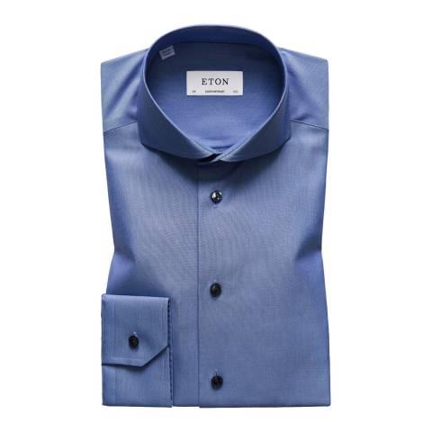 Eton Shirts Blue/White Contemporary Woven Shirt