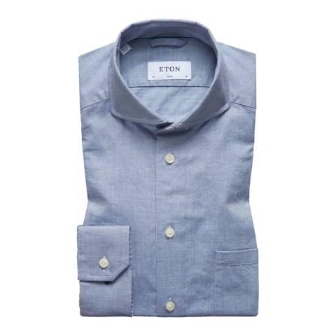 Eton Shirts Light Blue Slim Woven Shirt