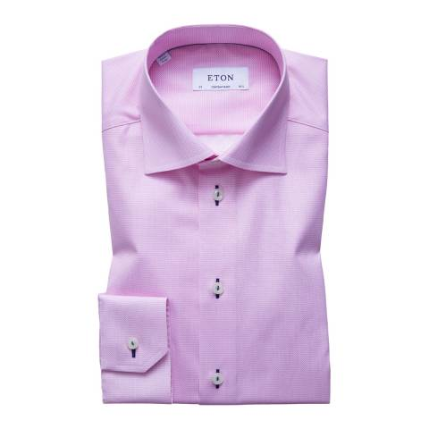 Eton Shirts Pink Contemporary Triangle Shirt