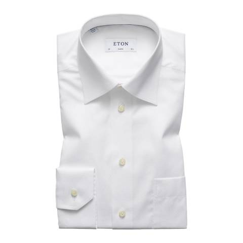 Eton Shirts White Classic Diamond Shirt