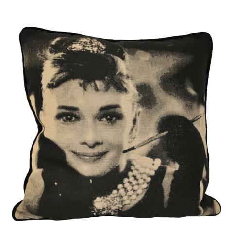 Paoletti Black Audrey Hepburn Cushion 45x45cm
