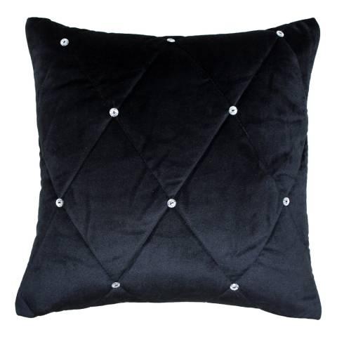 Paoletti Black Diamante Cushion 45x45cm