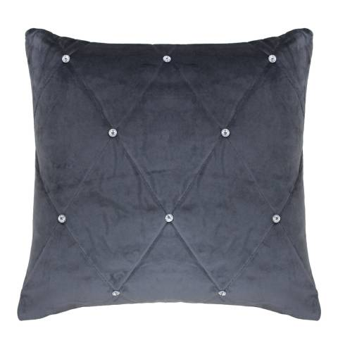 Paoletti Diamante 45x45 Cushion, Pewter