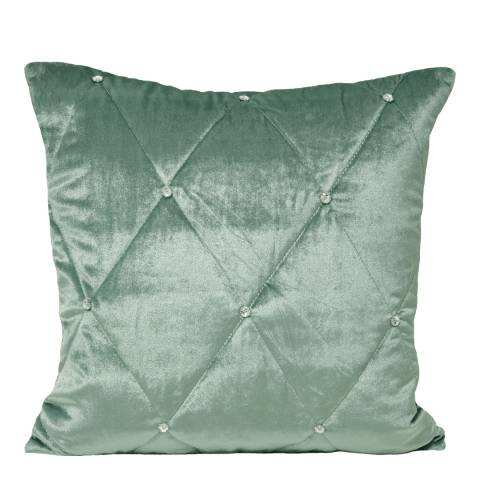 Paoletti Duck Egg Diamante Cushion 55x55cm