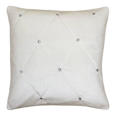Paoletti Diamante 55x55cm Cushion, Cream