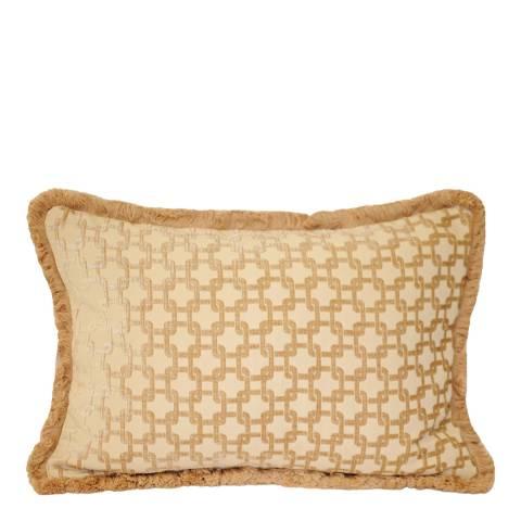 Paoletti Beige Belmont Cushion 40x60cm