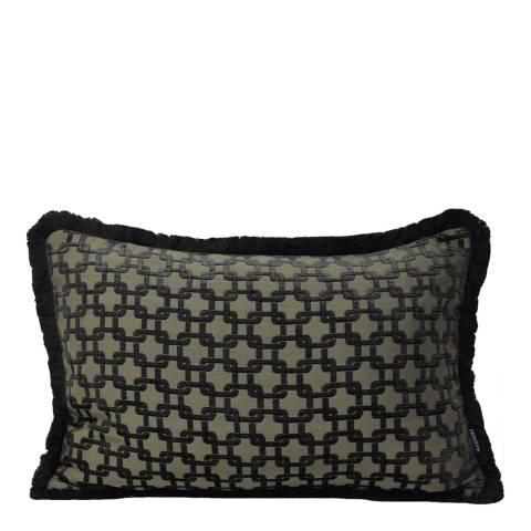 Paoletti Black Belmont Cushion 40x60cm
