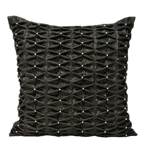 Paoletti Monte Carlo 50x50cm Cushion, Black