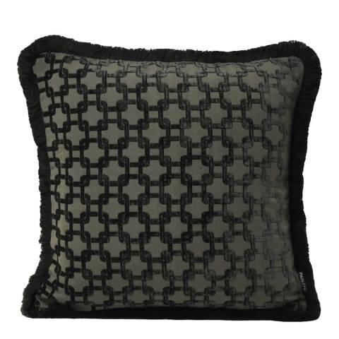 Paoletti Black Belmont Cushion 55x55cm