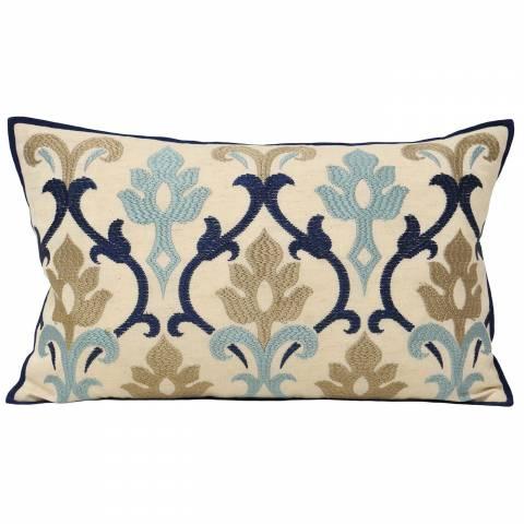 Paoletti Blue Berkley Cushion 30x50cm