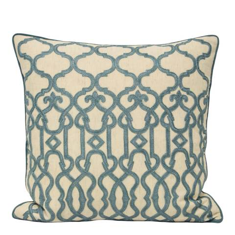 Paoletti Blue Winbourne 45x45cm Cushion