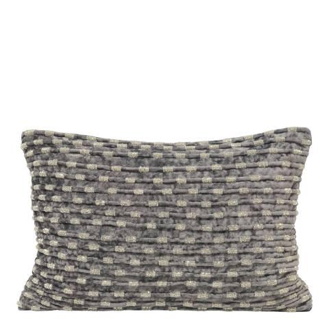 Paoletti Grey Souk Cushion 35x50cm