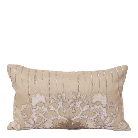 Paoletti Taupe Genevieve Cushion 30x50cm
