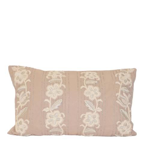 Paoletti Taupe Capucine Cushion 30x50cm