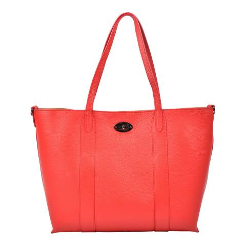 Carla Ferreri Red Leather Shoulder Bag
