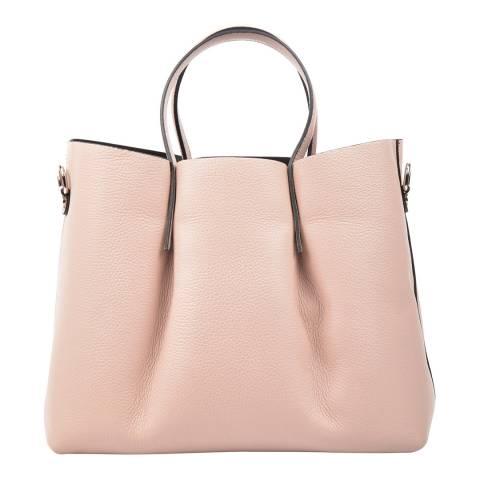 Carla Ferreri Light Pink Leather Shoulder Bag