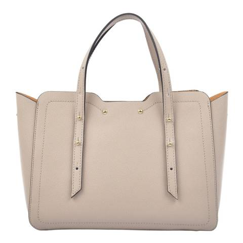Carla Ferreri Beige Leather Shoulder Bag