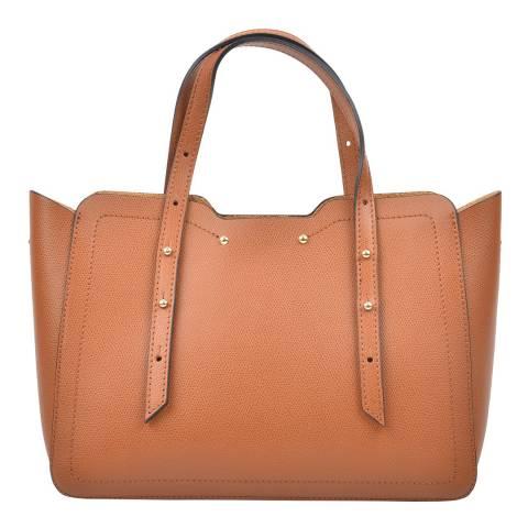 Carla Ferreri Cognac Leather Handbag