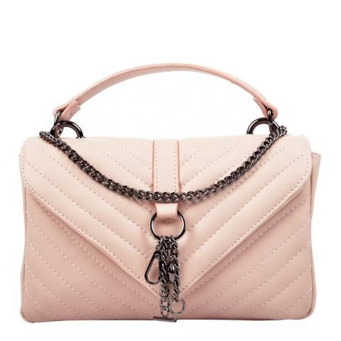 Carla Ferreri Light Pink Leather Top Handle Bag