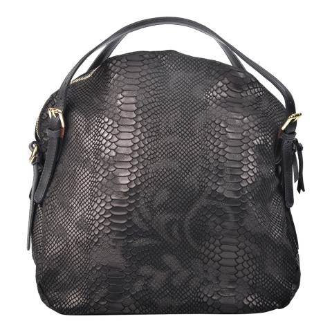 Carla Ferreri Black Leather Shoulder Bag
