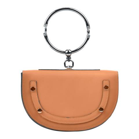 Carla Ferreri Cognac Leather Handbag