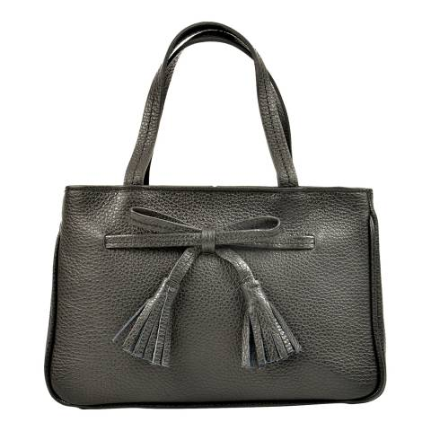Carla Ferreri Black Leather Handbag
