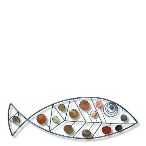 Artisan House Dappled Fish Sculpture, 91x8x30cm