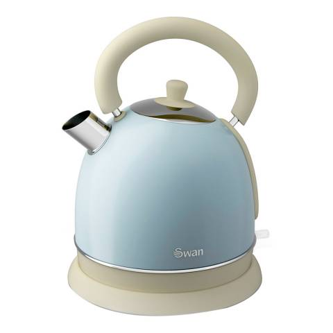 Swan Blue Retro Dome Kettle, 1.8L