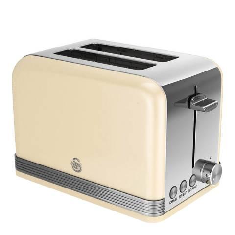 Swan Cream Retro 2 Slice Toaster