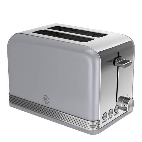 Swan Grey Retro 2 Slice Toaster
