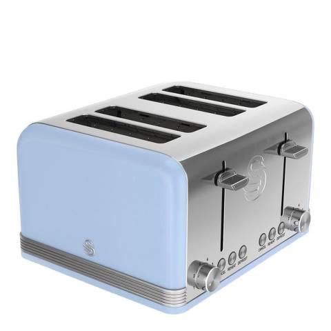 Swan Blue Retro 4 Slice Toaster