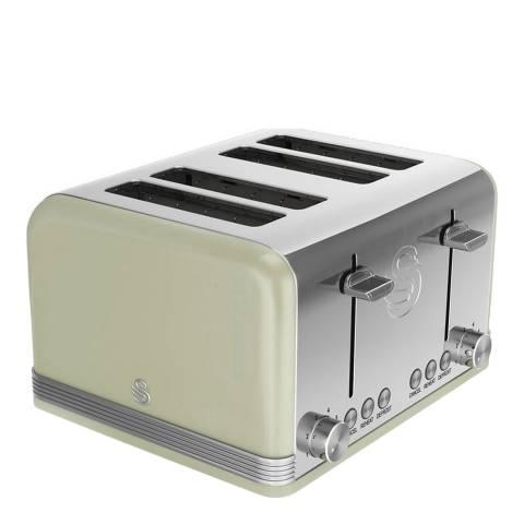 Swan Green Retro 4 Slice Toaster