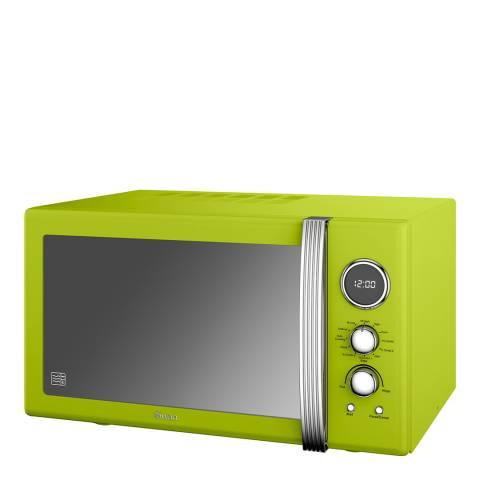 Swan Lime Retro Digital Combi Microwave, 25L
