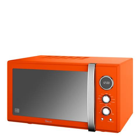 Swan Orange Retro Digital Combi Microwave, 25L