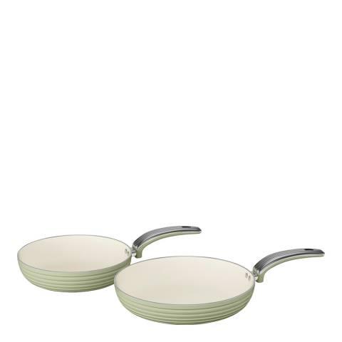 Swan Green Set of 2 Retro Frying Pans