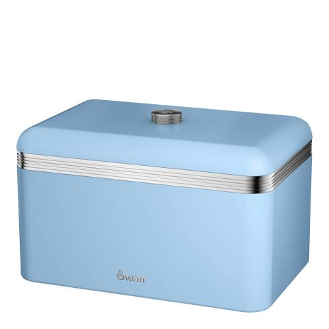 Swan Blue Retro Bread Bin