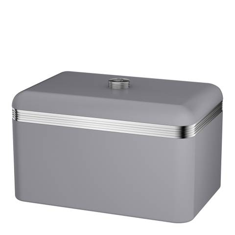 Swan Grey Retro Bread Bin