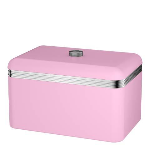Swan Pink Retro Bread Bin