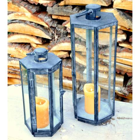Adobe Nepalese Slate Lantern Large