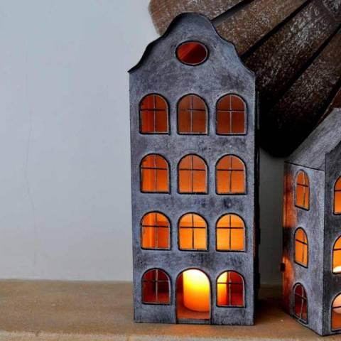 Adobe Dutch House Lantern Large