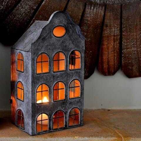 Adobe Dutch House Lantern Small