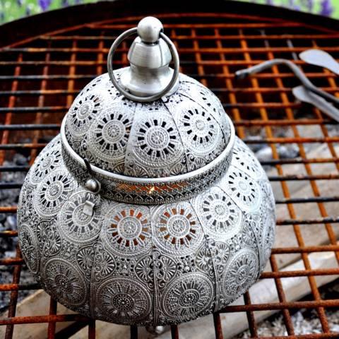 Adobe Silver Kashmir Classic Lantern Large