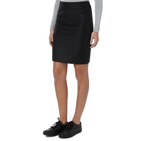 Joseph Black Clara Pure Wool Skirt