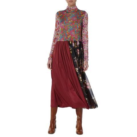 Joseph Multi Mismatched Floral Ramona Maxi Dress