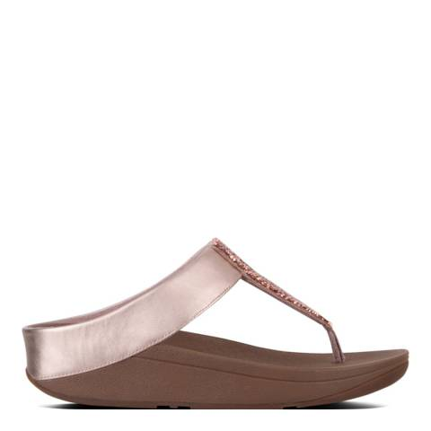 FitFlop Rose Gold Sparklie Crystal Toe Post Sandals