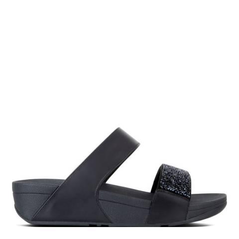 FitFlop Womens Black Sparklie Crystal Slide Sandals