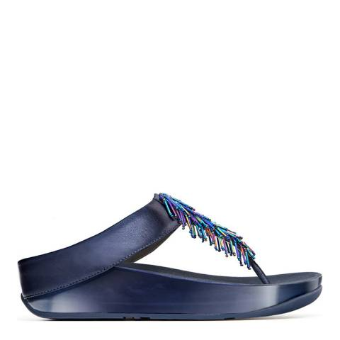FitFlop Womens Sapphire Cha Cha Toe Post Sandals